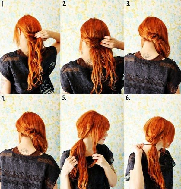 Как красиво сделать хвост на короткий волос
