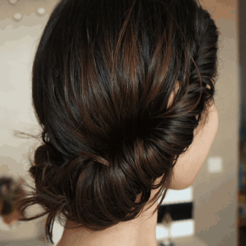 bun for long hair
