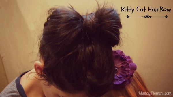 Easy Hairstyle: Kitty Cat Hair Bow