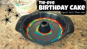 Easy Tie-Dye Birthday Cake For My Girl