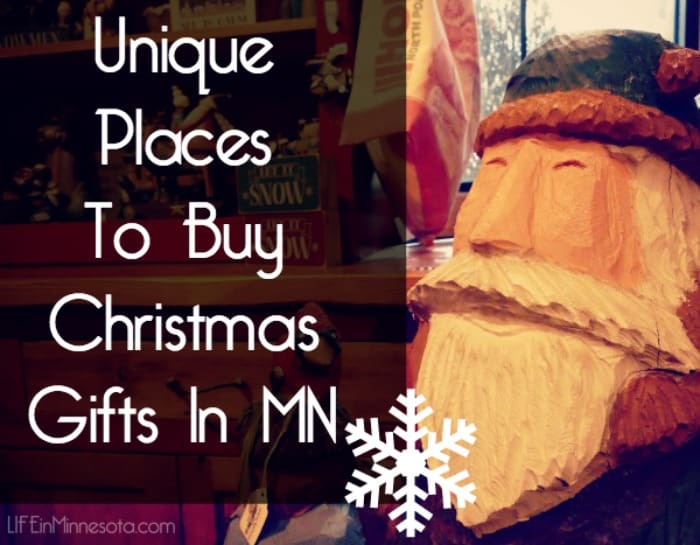 Unique Places To Buy Christmas Gifts In MN 2014 cover santa