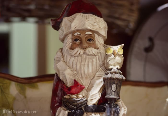 small wooden craved santa st. nick figure gift folk art style general store mn blog 2014 2015 christmas