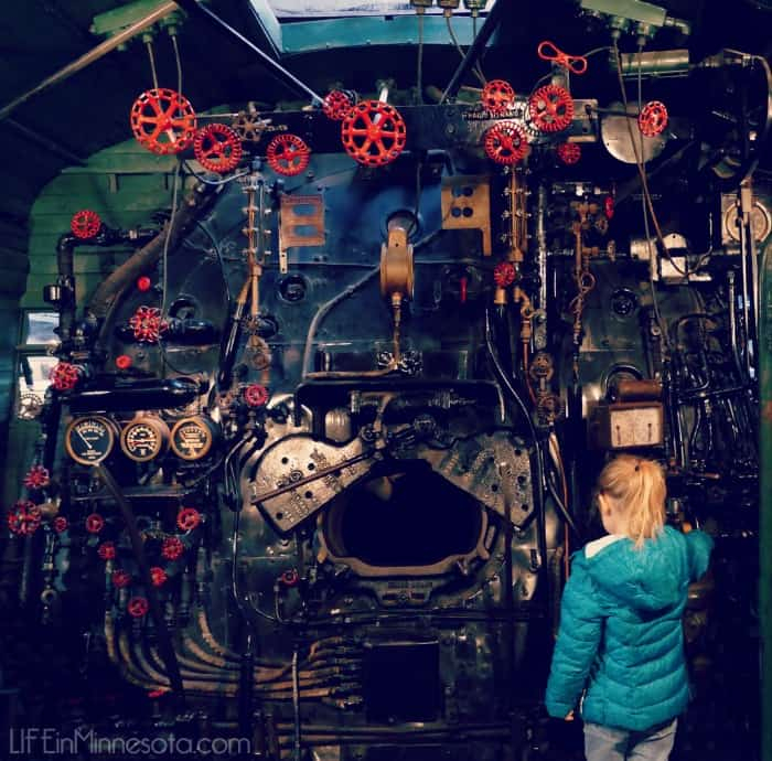 inside a train engine tour duluth superior railroad museum review travel kids MN 2015 blogger