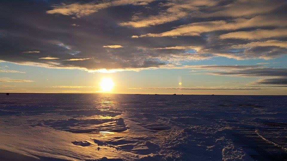 Sunrise on Red Lake. Sent In By: Kelly Browning 1/29/2015