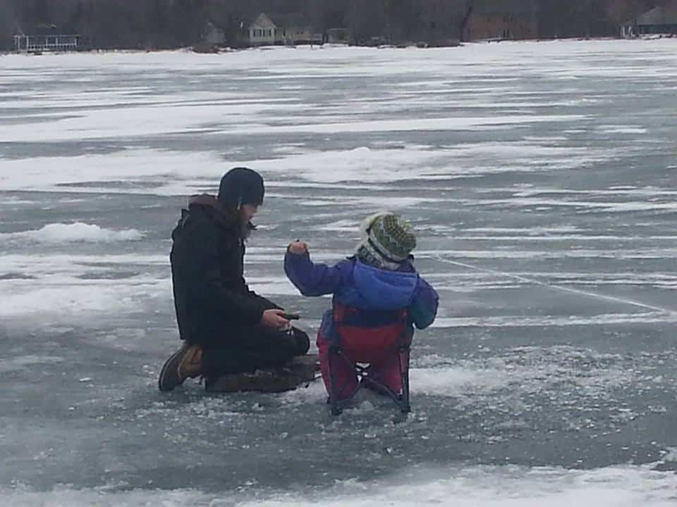 My Girls Fishing. Reminds Me Of Grumpy Old Men. Sent In By: Holly Clark 1/29/2015