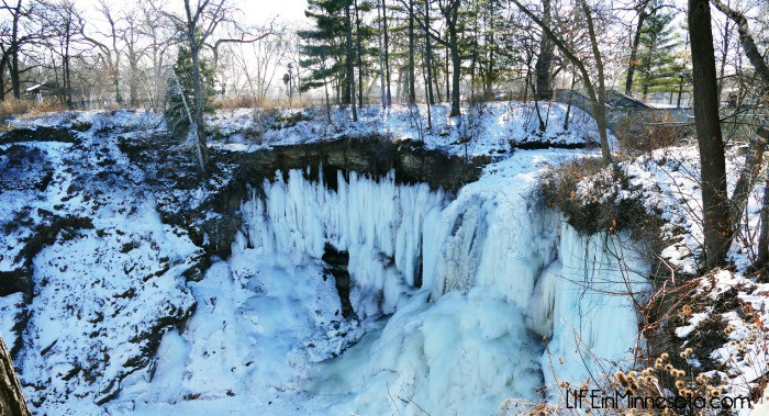 frozen waterfall downtown minneapolis minnesota travel ideas free 2015