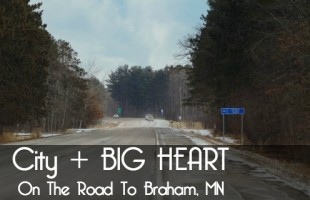 on the road to braham, mn