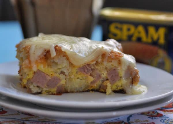 Tater Tot Egg Bake with SPAM short