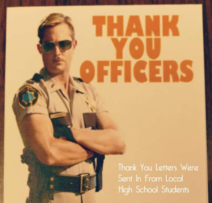 thank you letters from high school students mn law enforcement