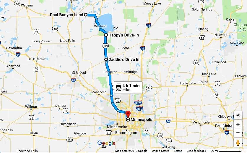 Paul Bunyan Day Trip Minnesota