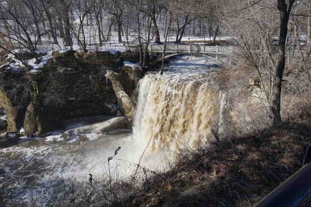 Don't forget your camera while experiencing things to do in Mankato MN like the Minnemishinona Falls.