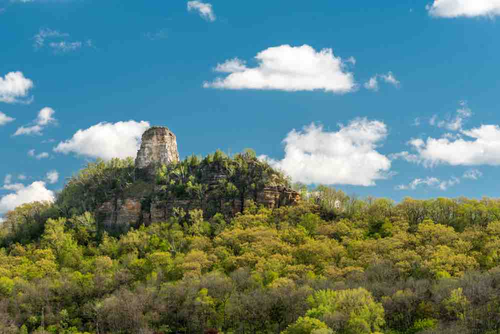 Hiking to Sugar Loaf above the town is one of the quintessential things to do in Winona MN.