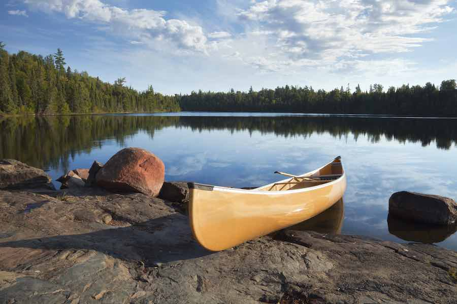 Canoe in Minnesota's BWCA