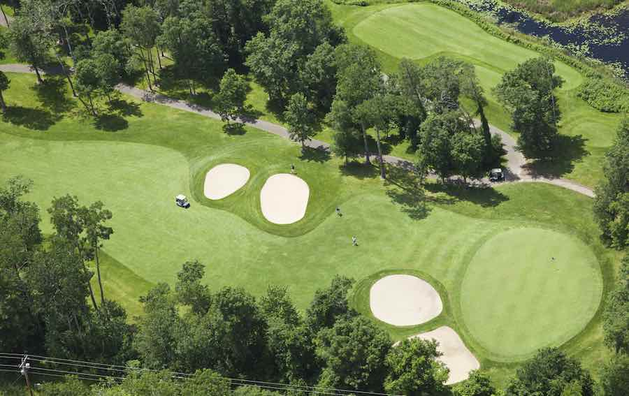 Top View of Minnesota Golf Course