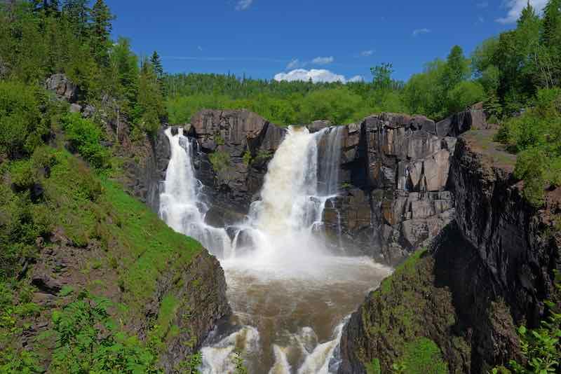 High falls at Grand Portage State Park Minnesota