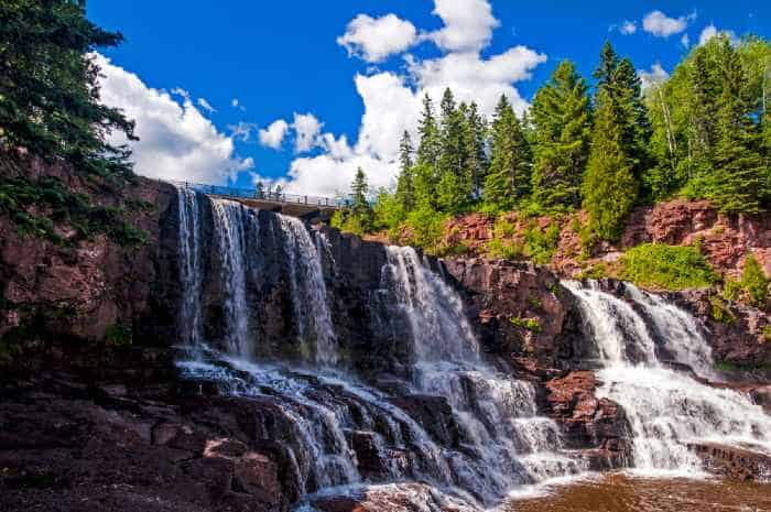 Visiting a waterfall is one of the best things to do in Minnesota.