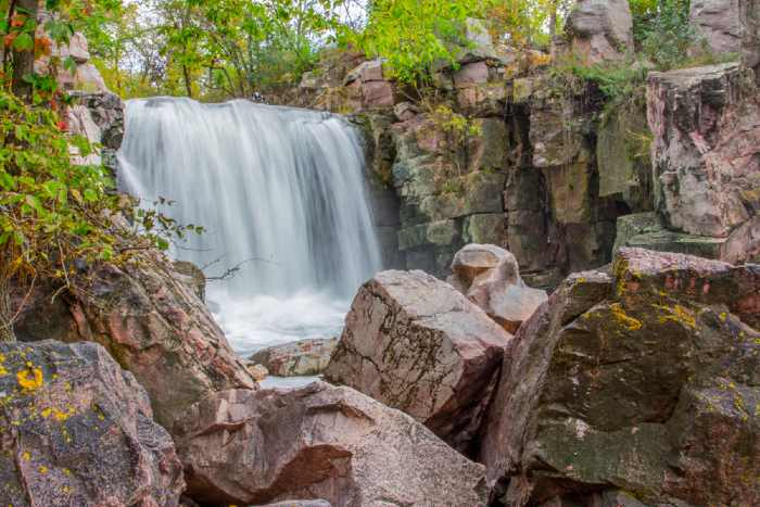 Winnewissa Falls at one of the best vacation spots in Minnesota