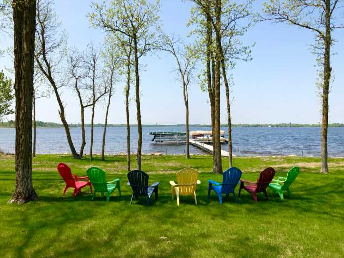 lake chairs waiting for you at one of the best family resorts in Minnesota