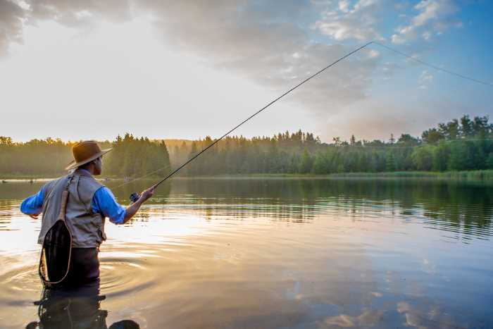 fly fishing at one of the best fishing resorts in Minnesota