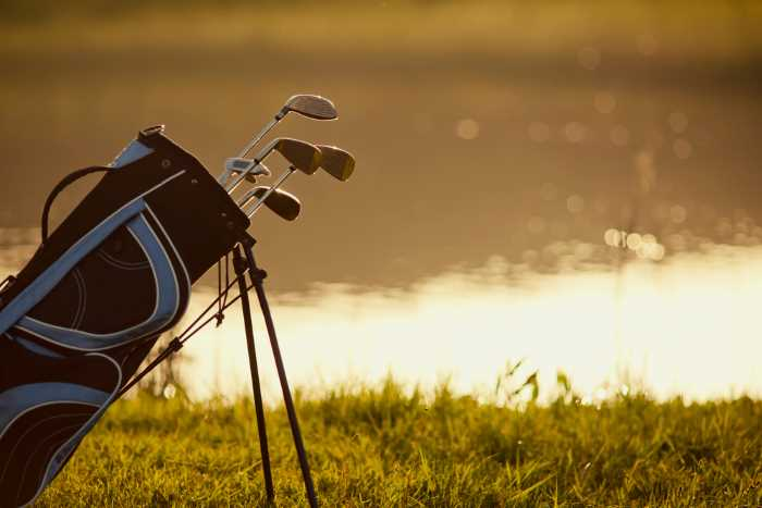 golf clubs by the lake