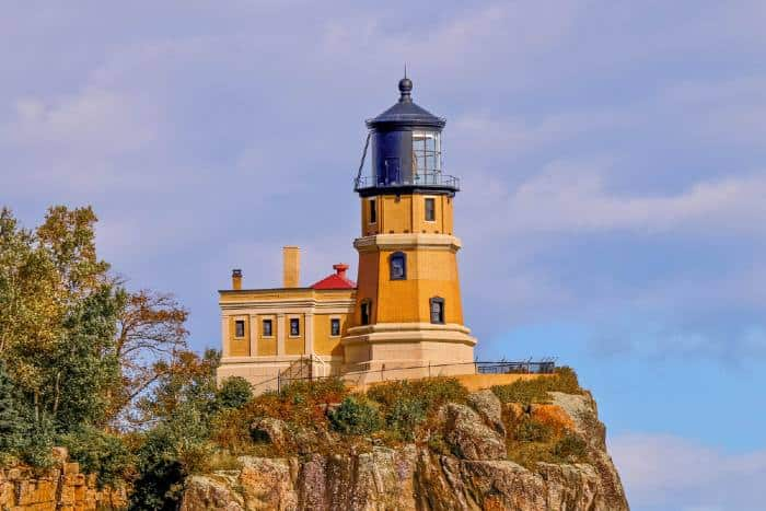 Lighthouse on cliffside in MN