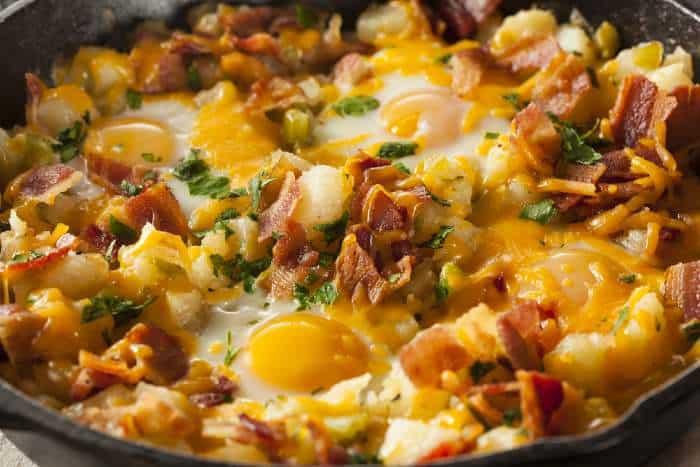 Egg skillet breakfast