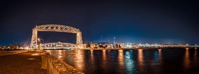 Aerial lift bridge in Duluth