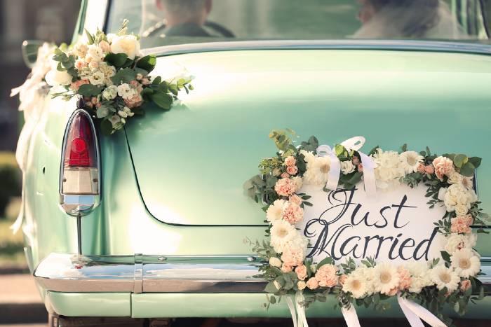 Beautiful wedding car