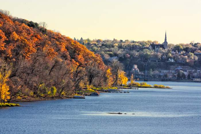 In Autumn, the Bluffs Overlooking the St. Croix and Stillwater.