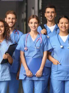 Students in medical school