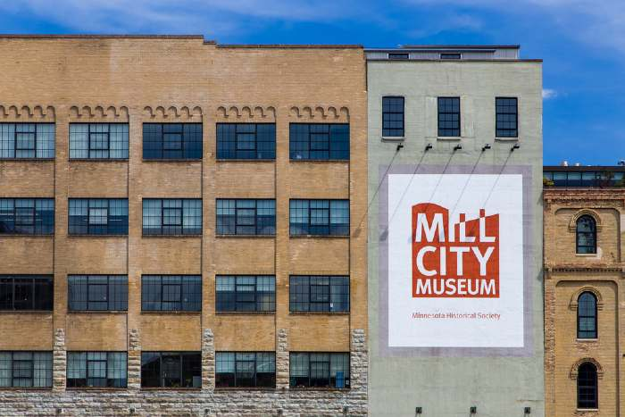 Mill City Museum on the banks of the Mississippi River.